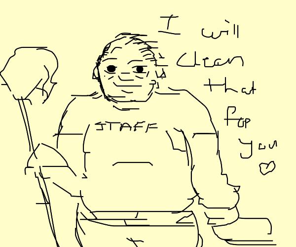 Plump Janitor