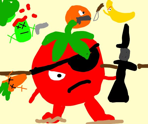 Tomato in a Battle