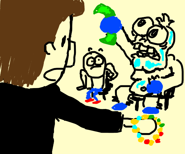 Yeti auctioning a Necklace