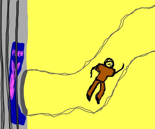 A prisoner escaping