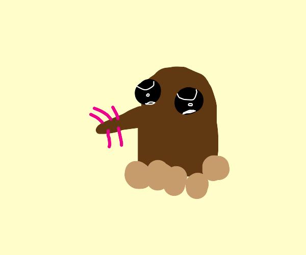 cute mole drawn in 90 seconds