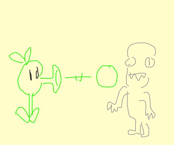 Plant vs zombies pew pew