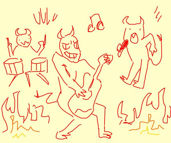 Satan's rock and roll band
