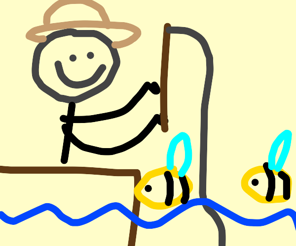 Fishing for bees