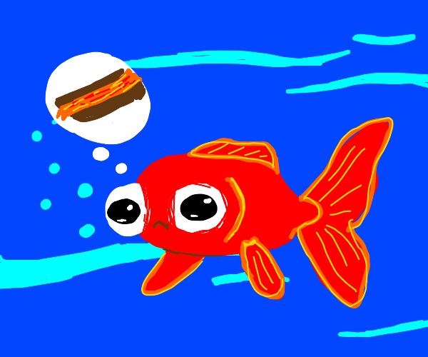 Fish thinks about smoldering lava
