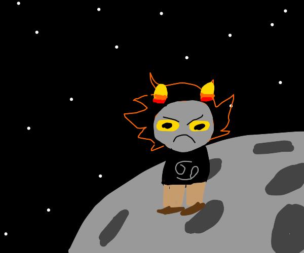 Karkat on the moon