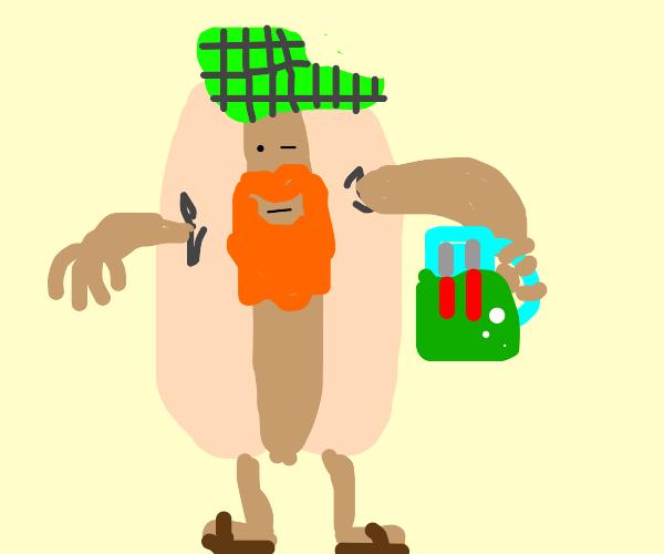 angry scottish hotdog