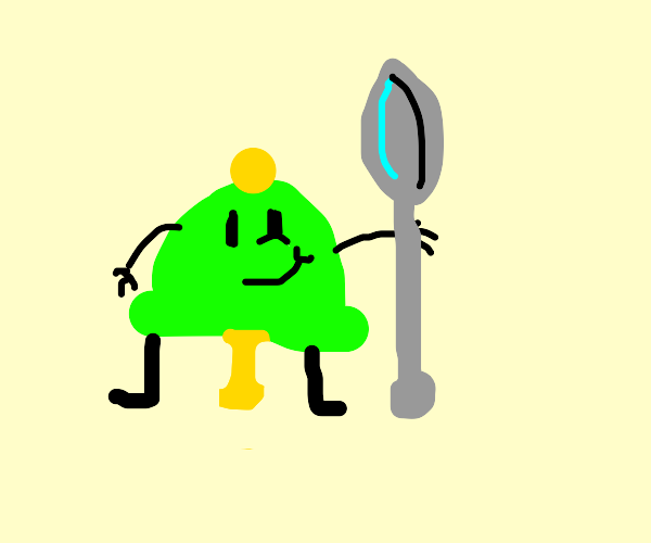 Bell with spoon