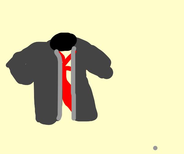 Ribbon wearing a Coat