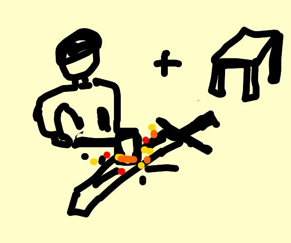 Blacksmith on a Table