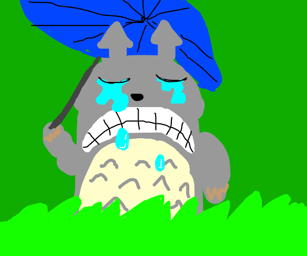 Sad cat is crying