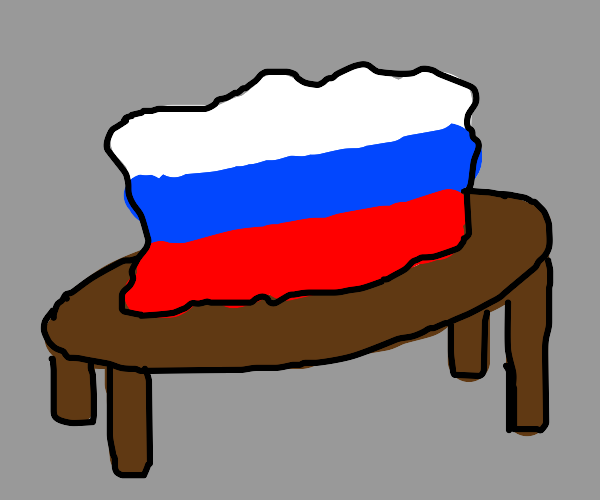 Russia on a table