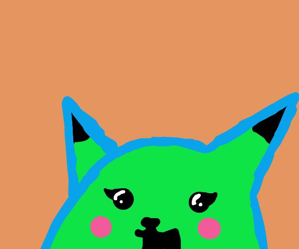 green pikachu♀ is in love