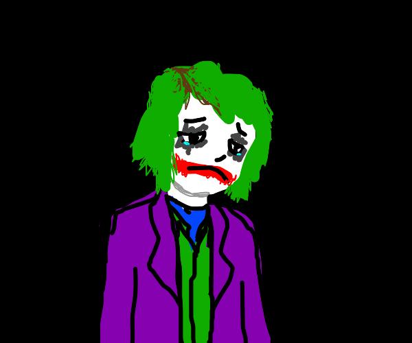 The Joker is sad