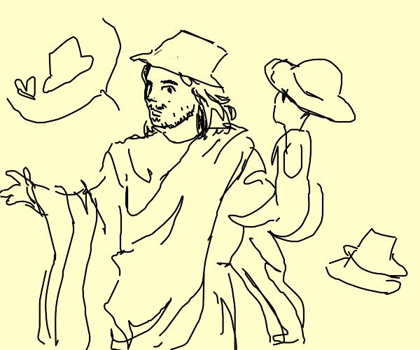 jesus is a huge fan of hats