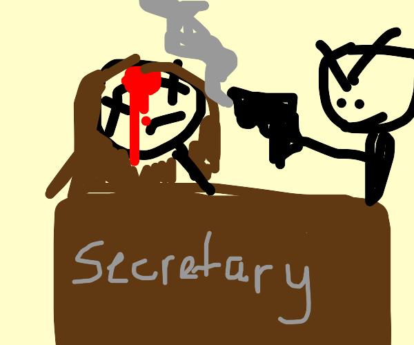 Secretary Shooting