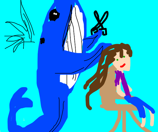 Blue Whale Hairdresser