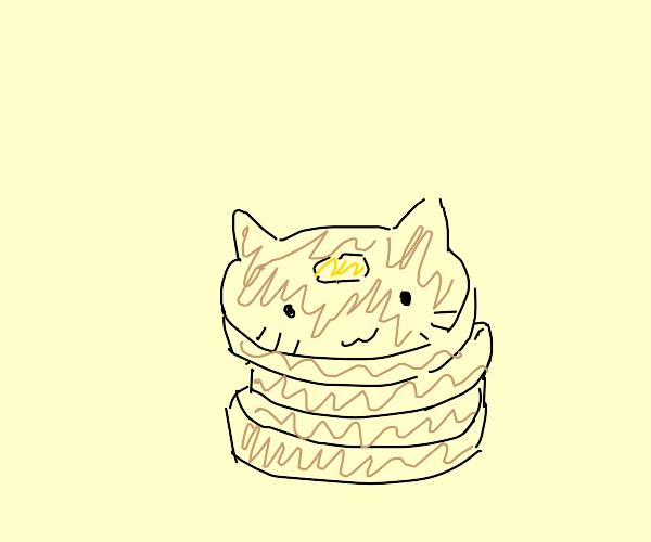Cat made of Pancakes
