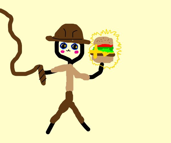 Indiana Jones finding rare cheeseburger