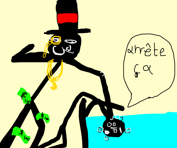 Un riche qui noie un francais