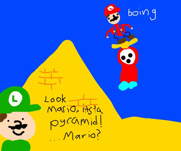 Mario and Luigi visit egypt