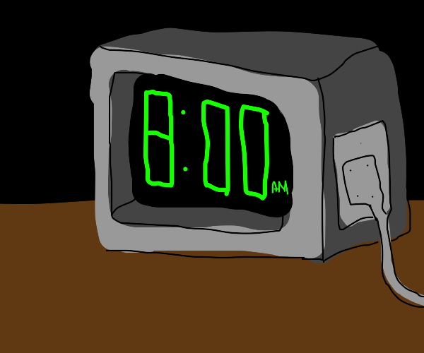 Wired alarm clock