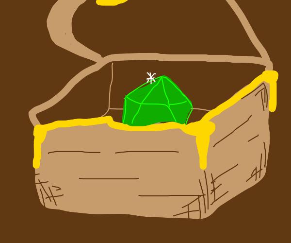 inside a treasure chest
