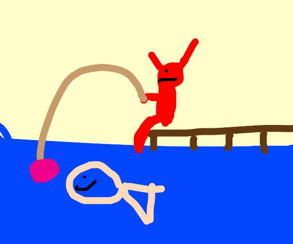 the devil goes fishing