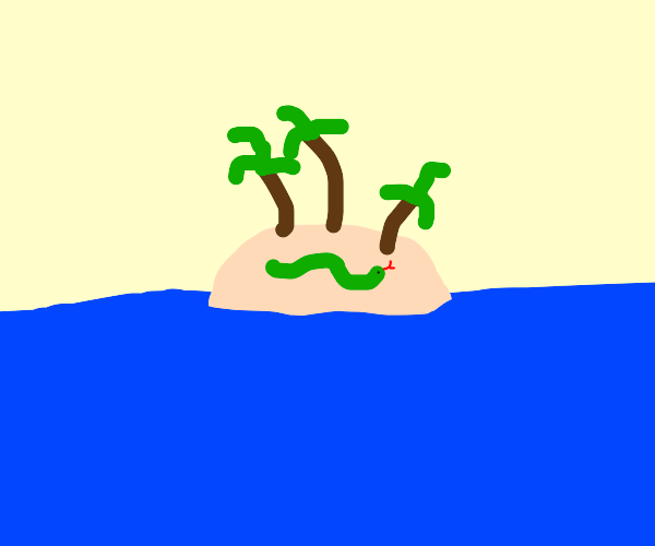Snake on an Island