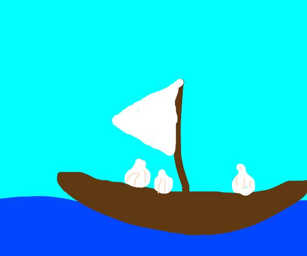 Garlic on a Boat