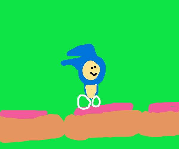 Sonic runs across chili dog