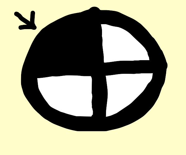 1/4 of a perfect circle