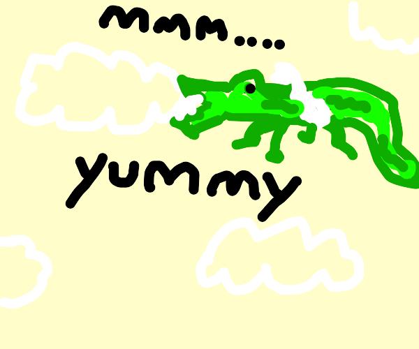 flying crocodile eats cloud