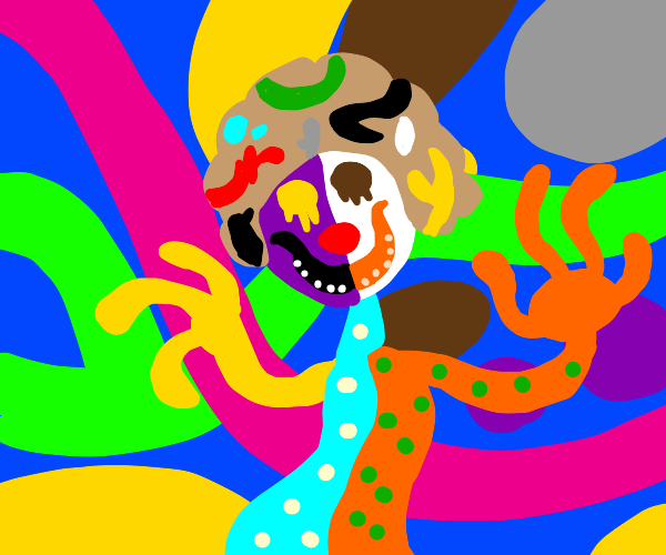 Scary abstract clown