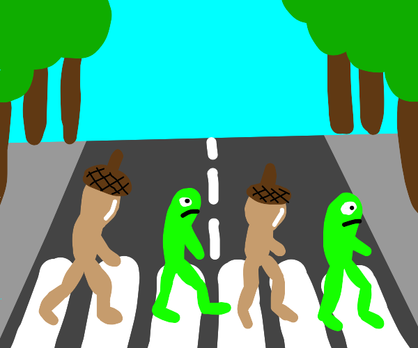 Abbey Road using acorn guys and frogs