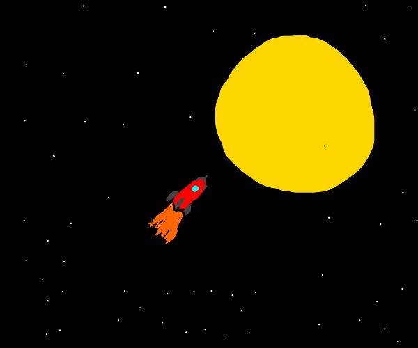 rocket going toward the sun
