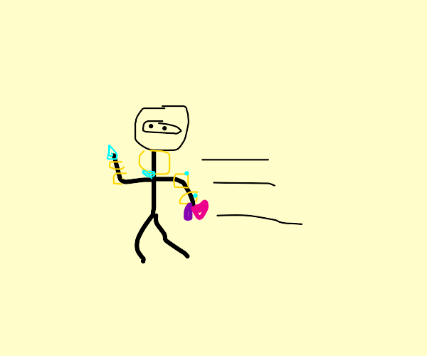 ninja running off with gold and jewels