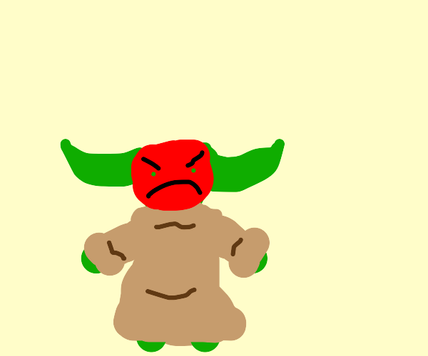 Mad baby Yoda
