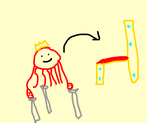 Octopus with 3 crutches ascends to the throne
