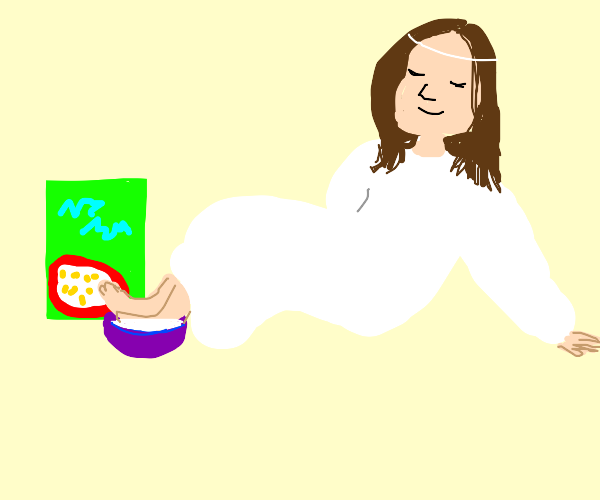 Jesus soaking his feet in your cereal