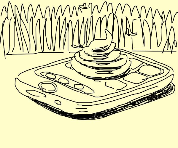 Poop on a phone