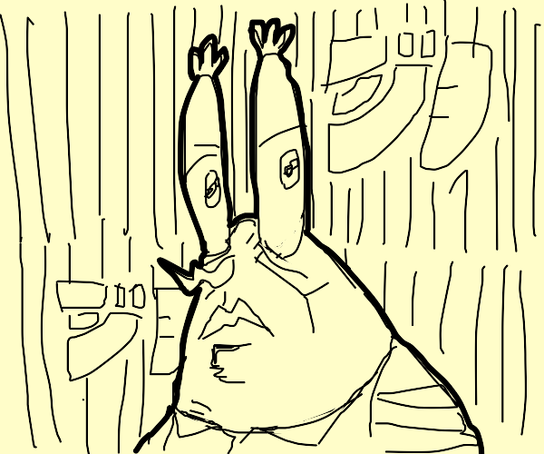 mr crabs shoots at jojo reference