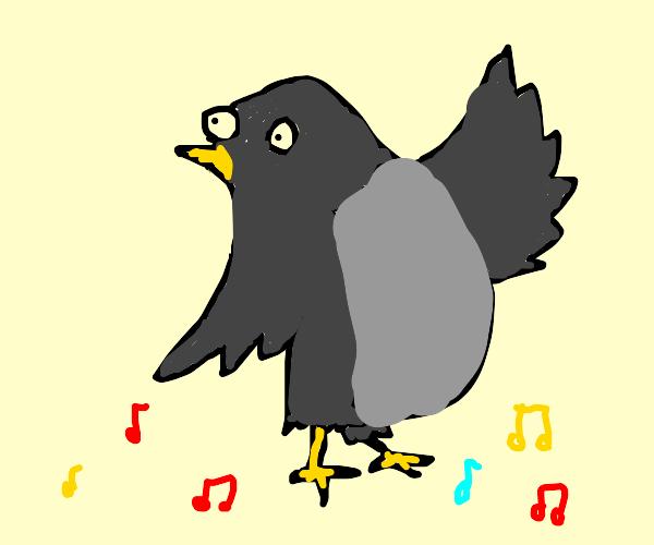 Raven doing a dance