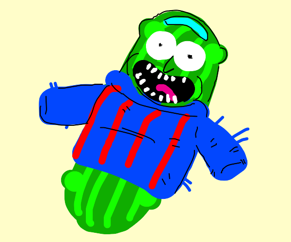 pickle in a sweater