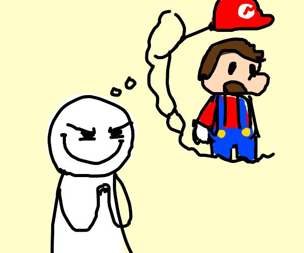 Man plots theft of Mario's hat