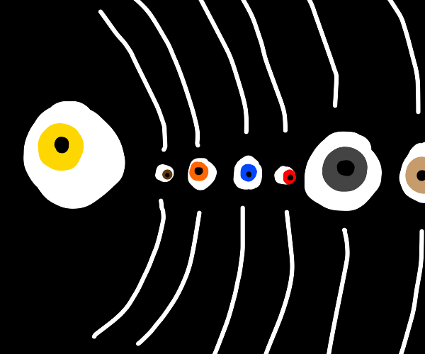 the solar system but everything is eyes