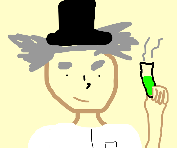 Scientist wearing a Top Hat