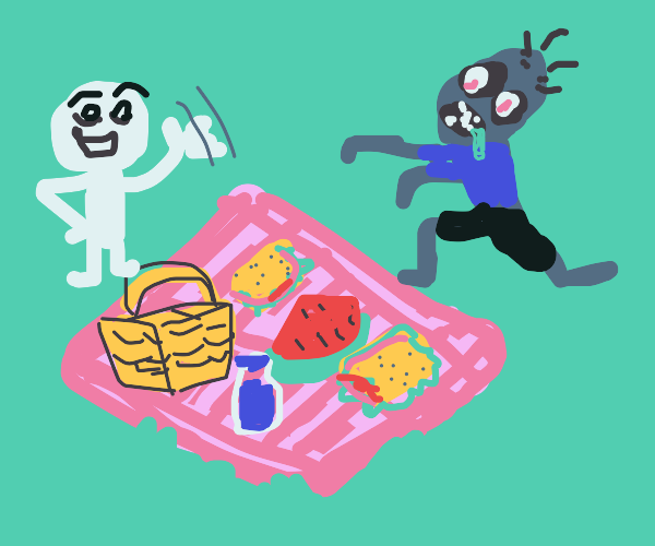 Hey dead person wanna have a picnic