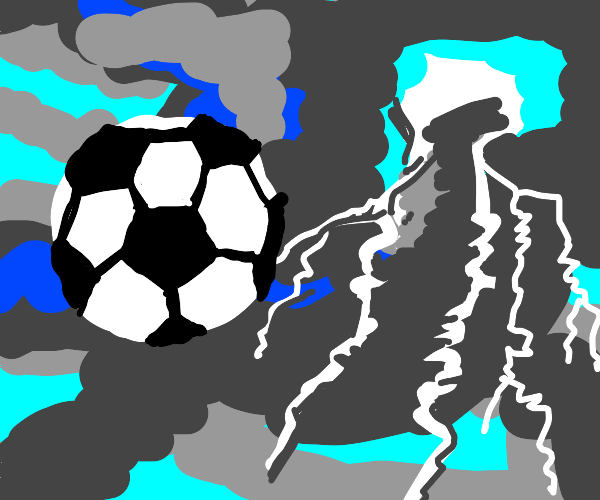 Soccer Ball in a Storm