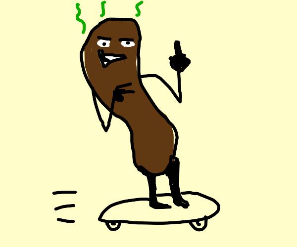poop skateboard go